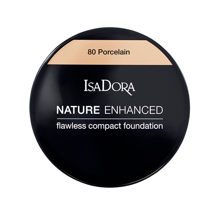 IsaDora Nature Enhanced Flawless Compact Foundation 80 Porcelain