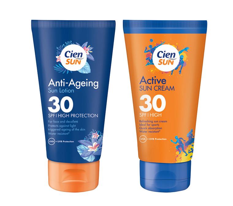 Cien Sun Anti-Ageing Sun Lotion & Cien Sun Active Sun Cream SPF 30