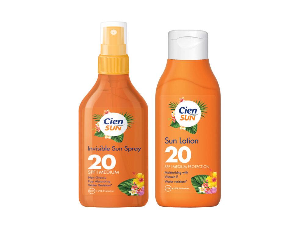 Cien Sun Body Invisible Sun Spray & Body Lotion SPF 20