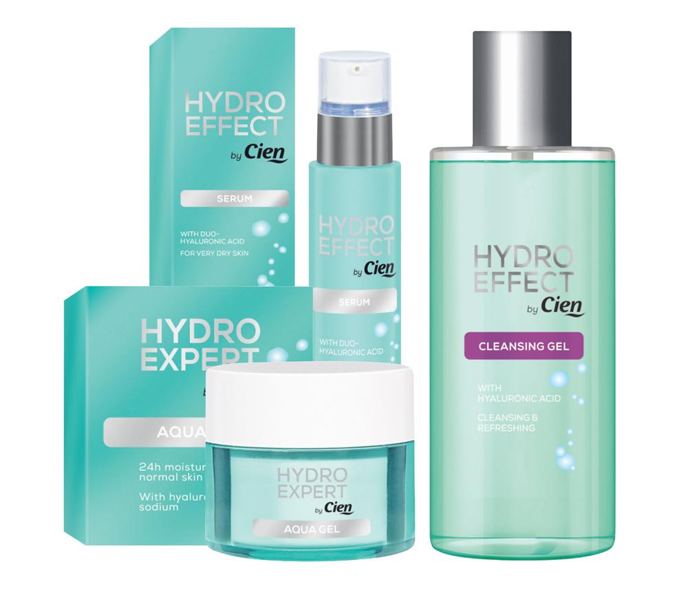 Cien Hydro Effect Serum, Aqua Gel & Cleansing Gel