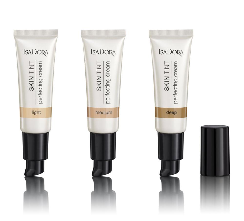 IsaDora Skin Tint Perfecting Creams Light, Medium, Deep
