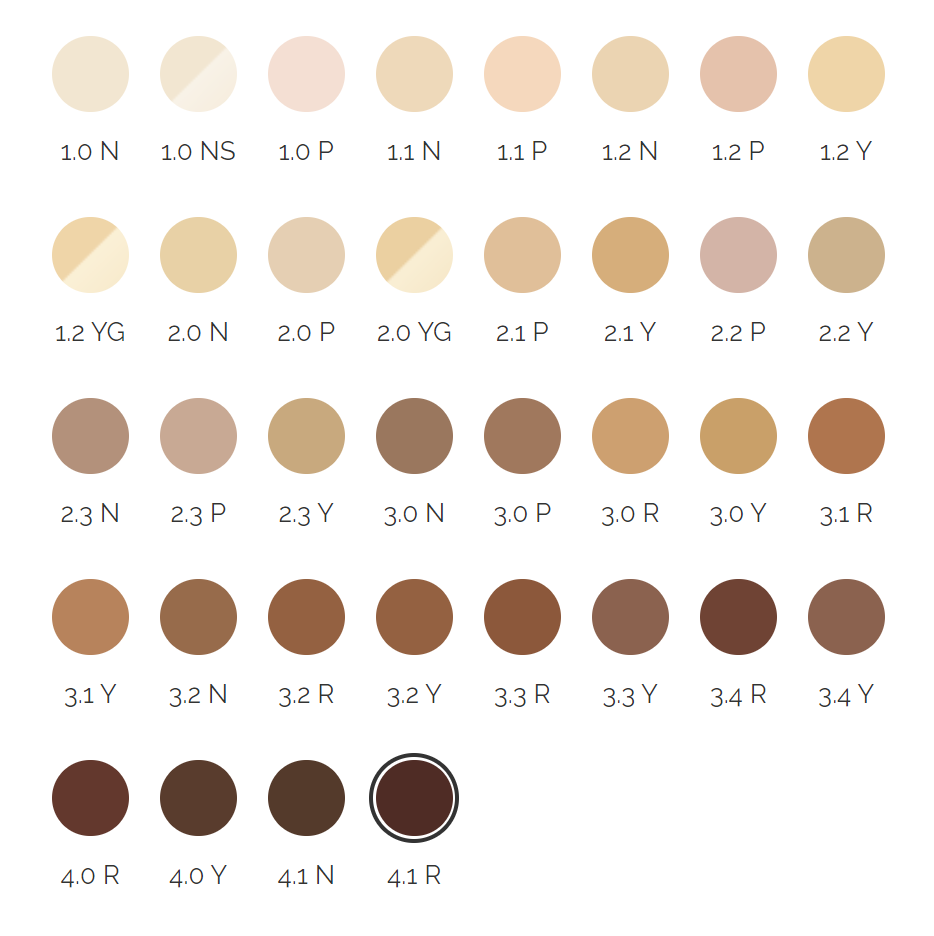 The Ordinary Colours Concealer Shades