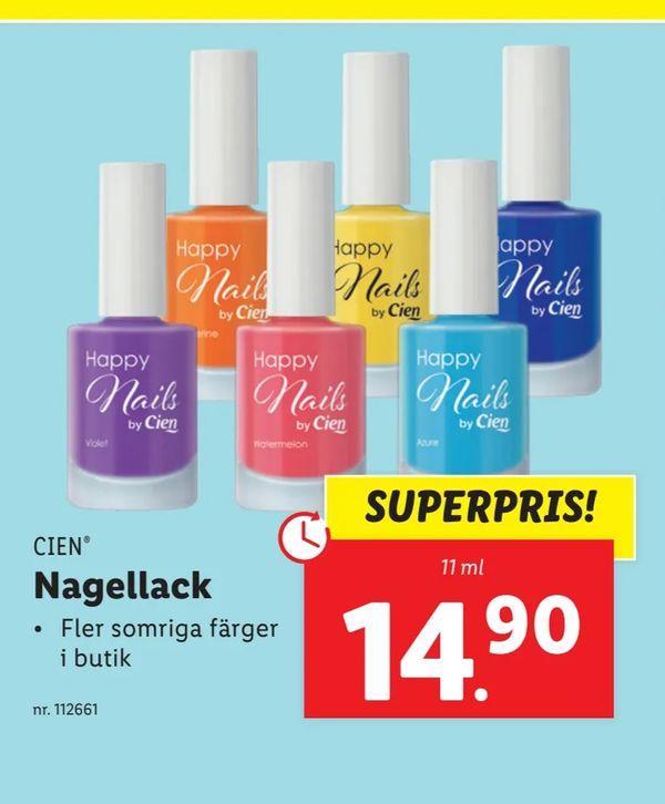 Cien Happy Nails hos Lidl sommaren 2021