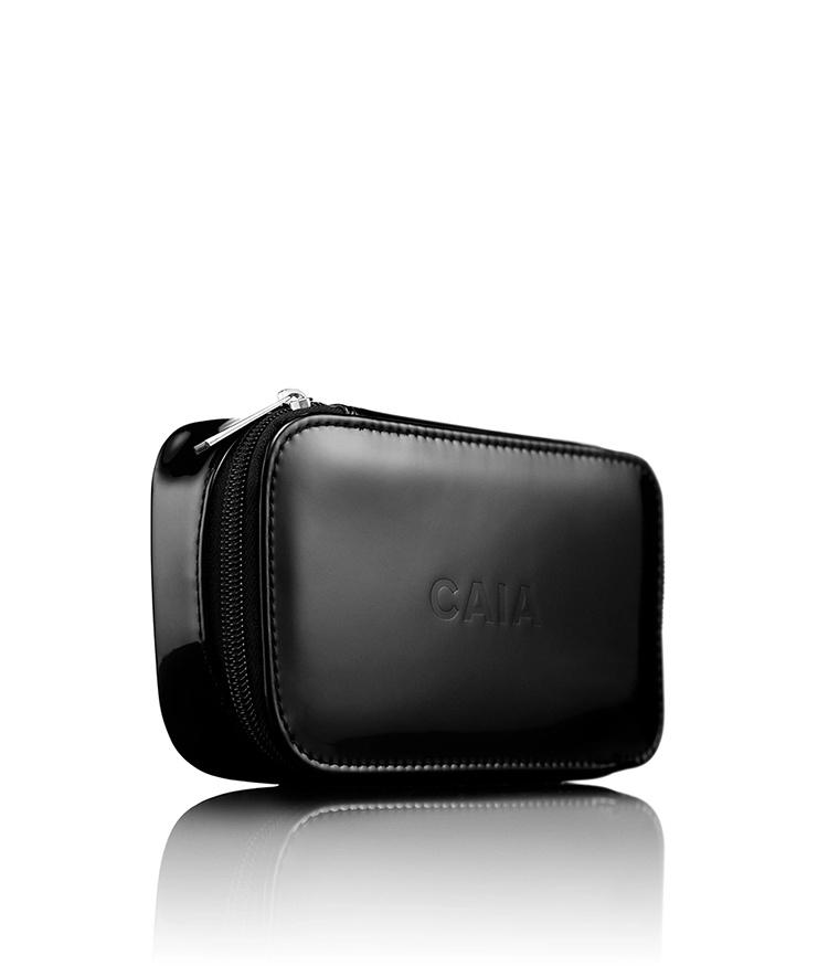 CAIA Black Small Organizer Toiletry Bag