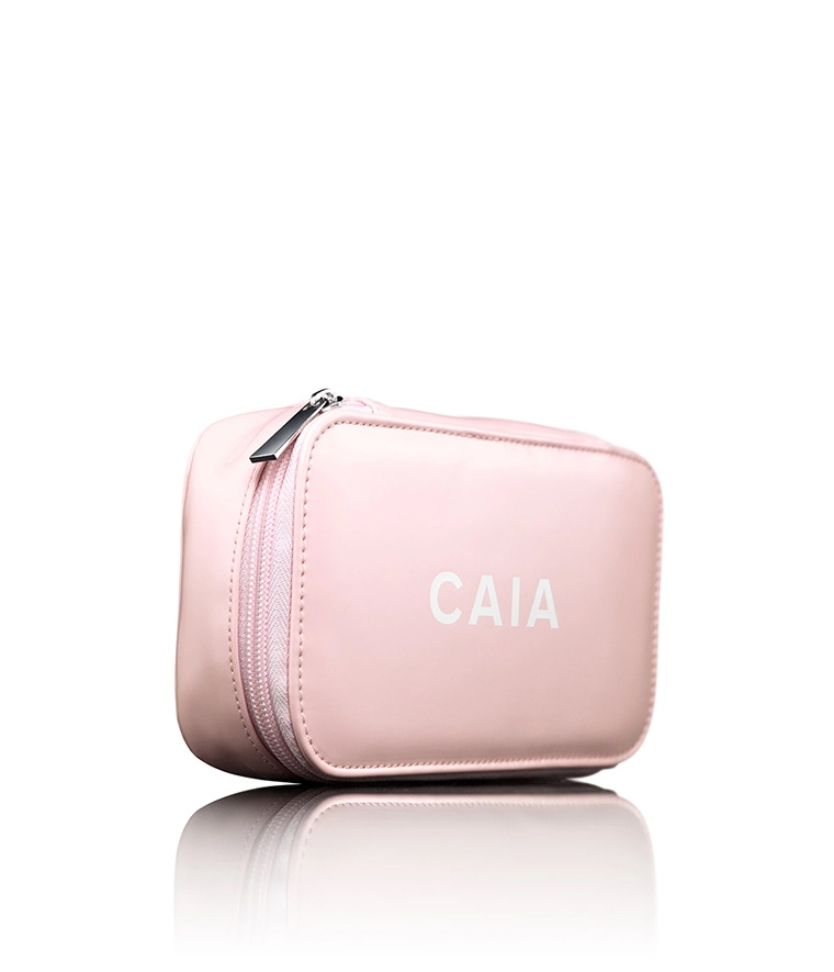 CAIA Pink Small Organizer Toiletry Bag