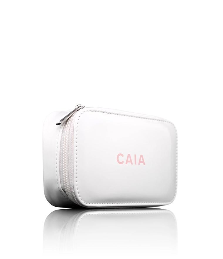 CAIA White Small Organizer Toiletry Bag