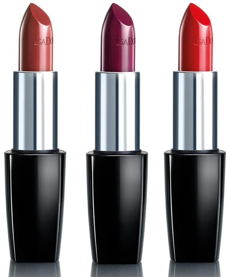 IsaDora 60 Cranberry, 229 Grape Nectar, 215 Classic Red Perfect Moisture Lipstick
